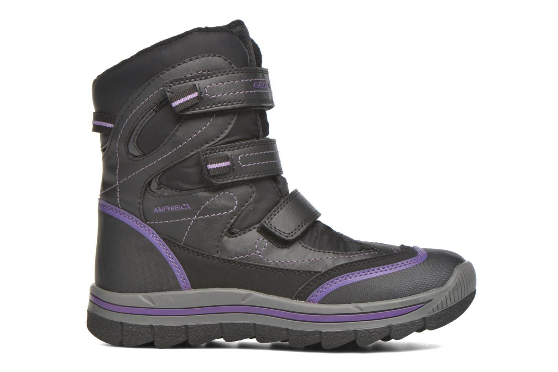 Bottines et boots Geox J Overland B Girl AB J540FC Noir vue derrière