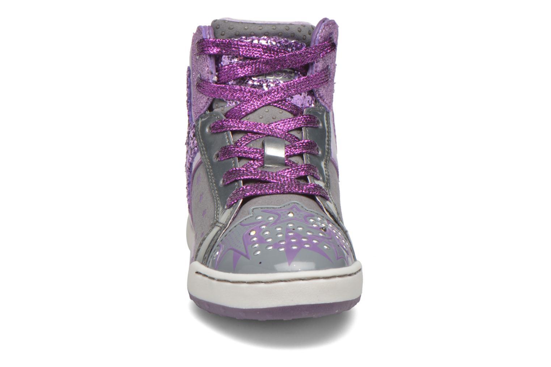 Baskets Geox J Ayko Girl J5401A Gris vue portées chaussures