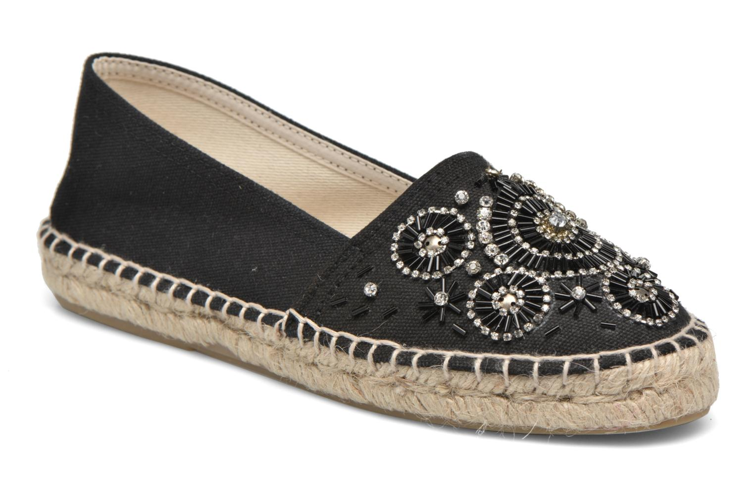 Espadrilles Gioseppo Abaran Black detailed view/ Pair view
