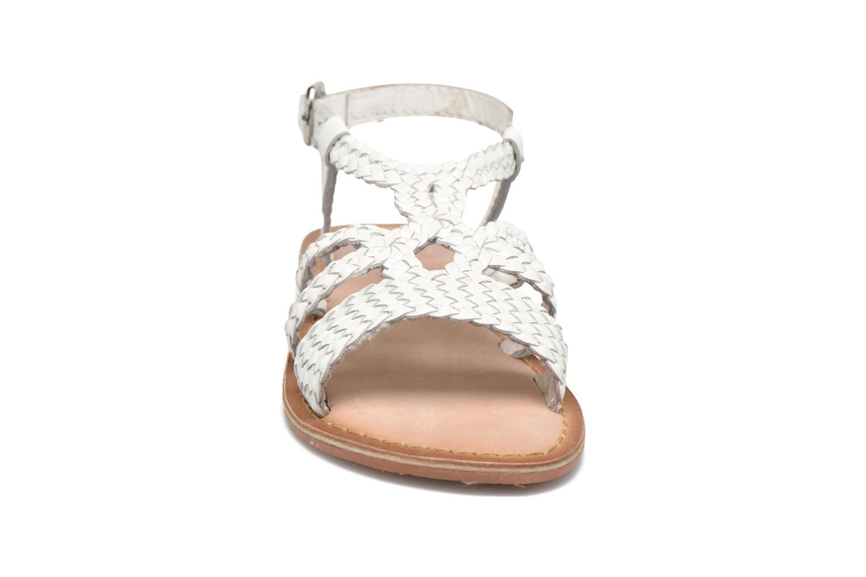 Sandales et nu-pieds Gioseppo Jacinthe Blanc vue portées chaussures