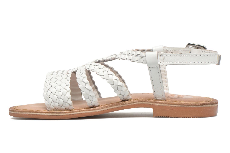 Sandales et nu-pieds Gioseppo Jacinthe Blanc vue face