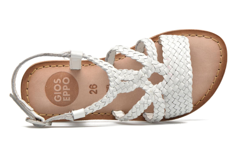 Sandales et nu-pieds Gioseppo Jacinthe Blanc vue gauche