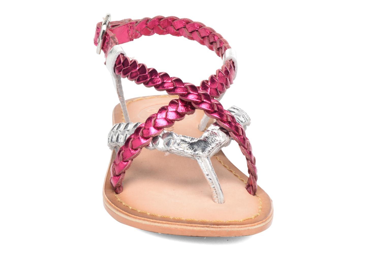 Sandales et nu-pieds Gioseppo Orchidee Rose vue portées chaussures