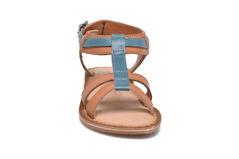Sandales et nu-pieds Gioseppo Tulipe Marron vue portées chaussures