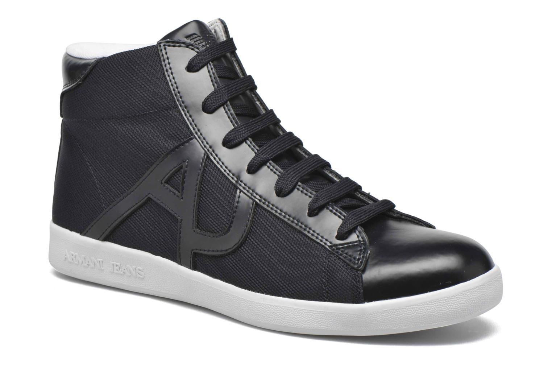 Sneakers Armani Jeans Alessandro Blå detaljerad bild på paret