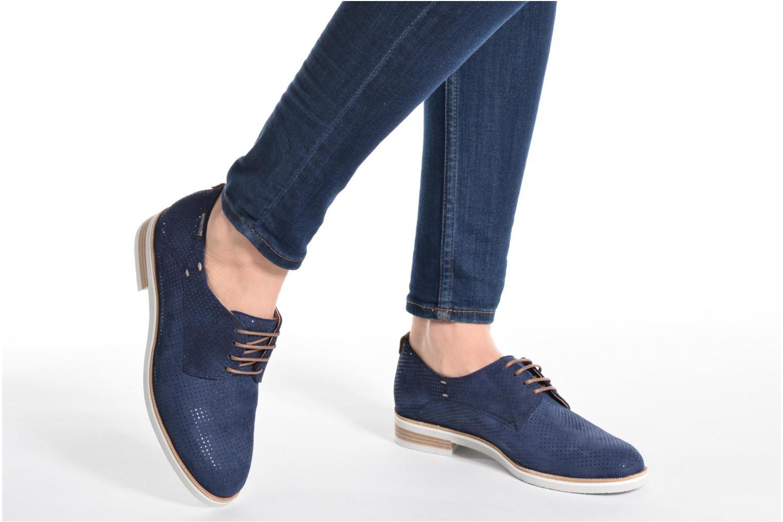 Chaussures à lacets Mephisto Poppy Bleu vue bas / vue portée sac