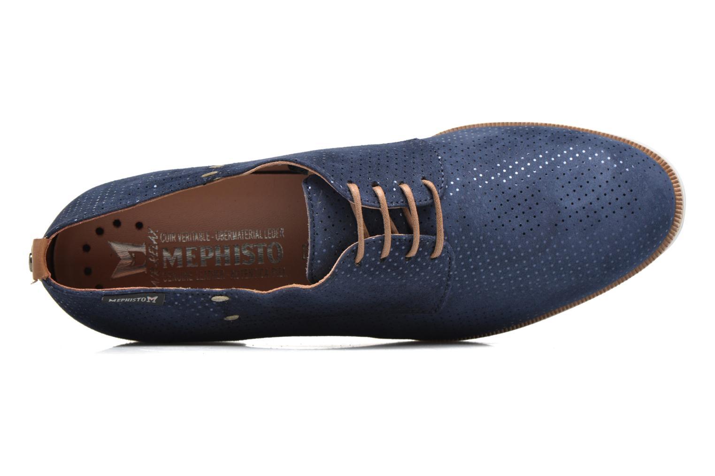 Chaussures à lacets Mephisto Poppy Bleu vue gauche