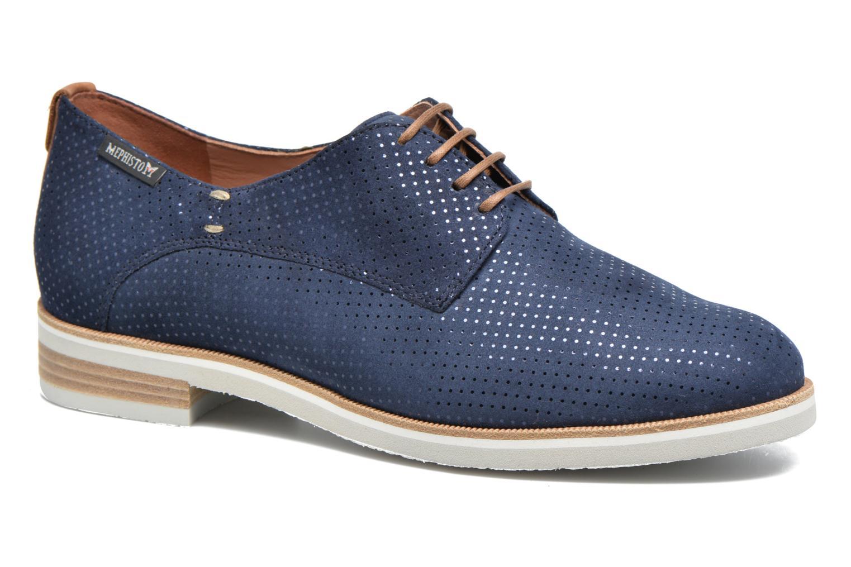 Chaussures à lacets Mephisto Poppy Bleu vue détail/paire