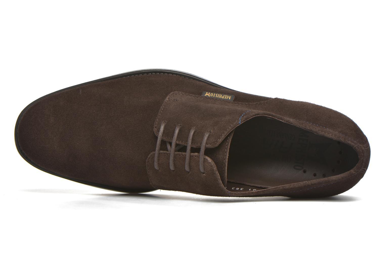 Chaussures à lacets Mephisto Cooper Marron vue gauche