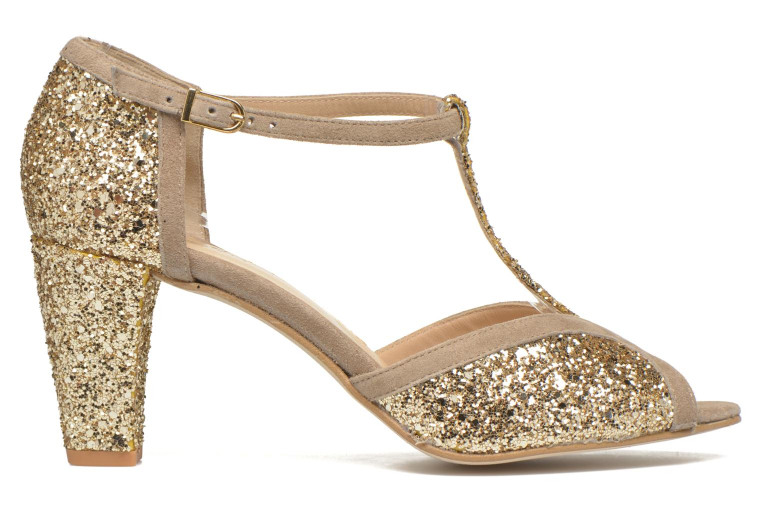 Damaris Glitter Gold + Velours Beige