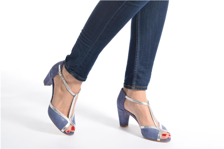 High heels Jonak Damaris Blue view from underneath / model view