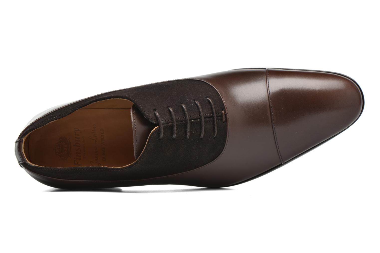 Chaussures à lacets Finsbury Jerico Marron vue gauche