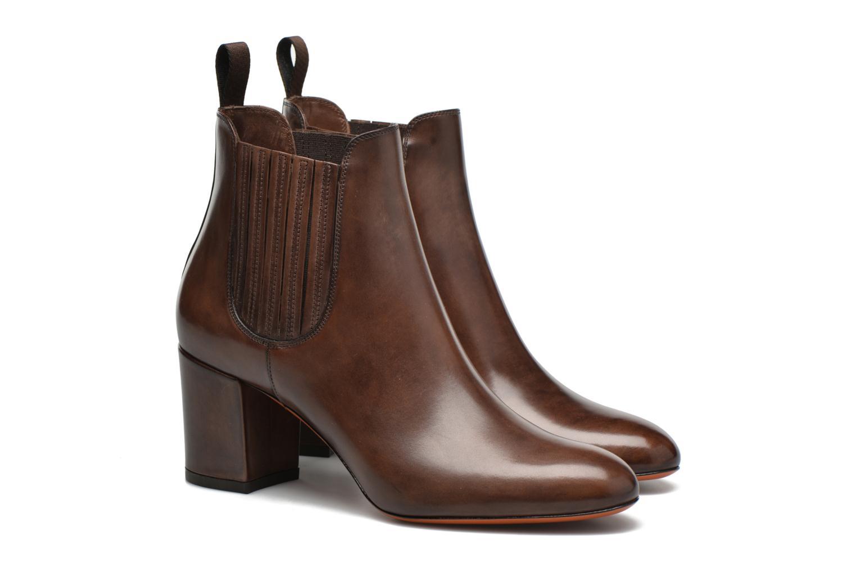 Ankle boots Santoni Venus 65 Brown 3/4 view