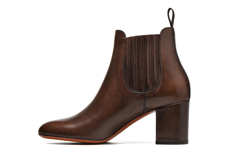 Ankle boots Santoni Venus 65 Brown front view
