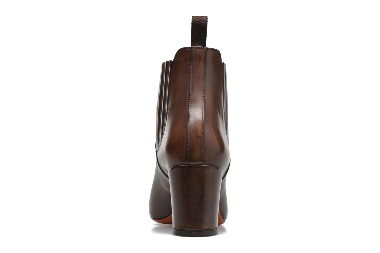 Ankle boots Santoni Venus 65 Brown view from the right