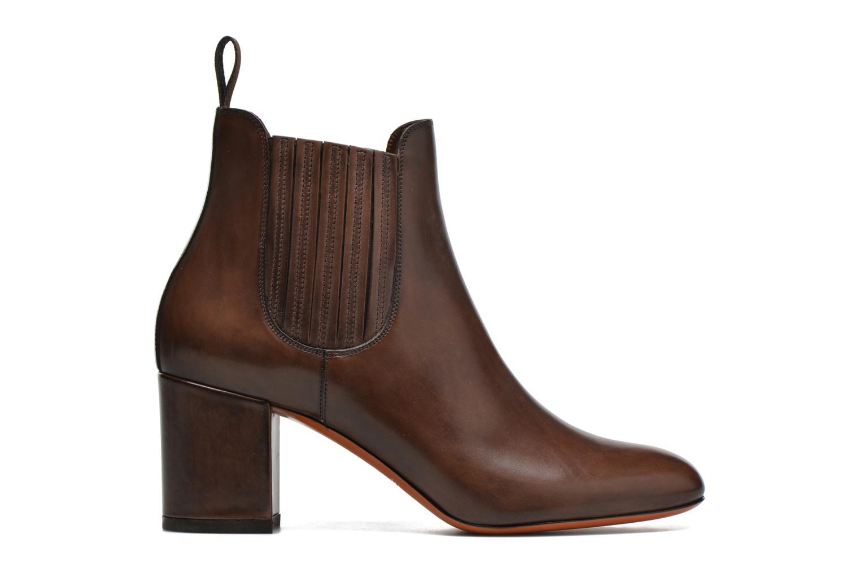 Ankle boots Santoni Venus 65 Brown back view