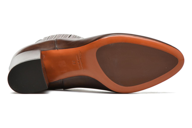 Bottines et boots Santoni Venus 65 Marron vue haut