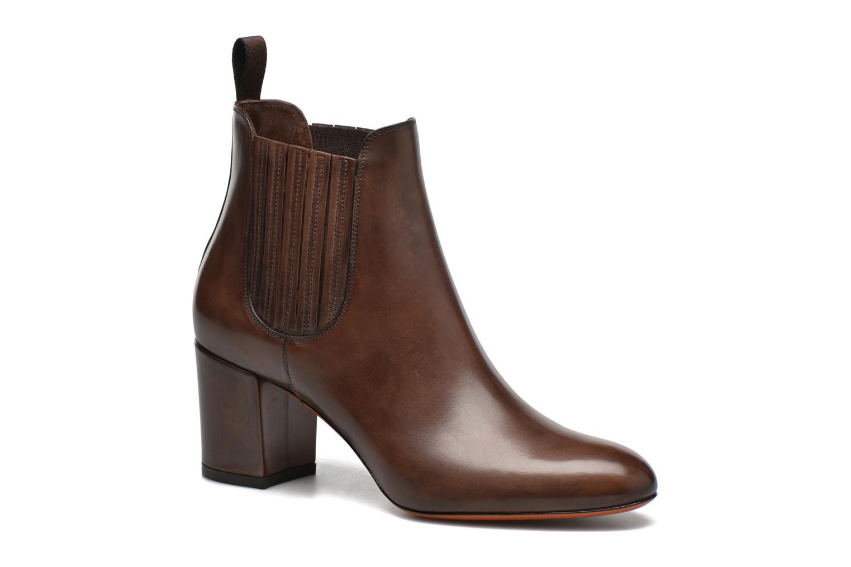Ankle boots Santoni Venus 65 Brown detailed view/ Pair view