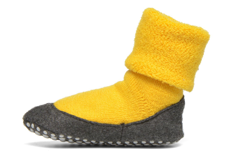 Chaussettes et collants Falke Chaussons-chaussettes Cosyshoes Jaune vue face