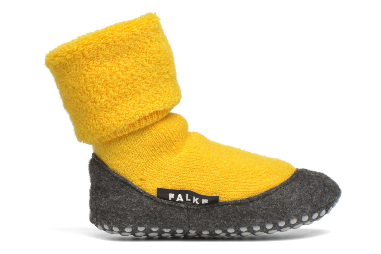 Chaussettes et collants Falke Chaussons-chaussettes Cosyshoes Jaune vue derrière