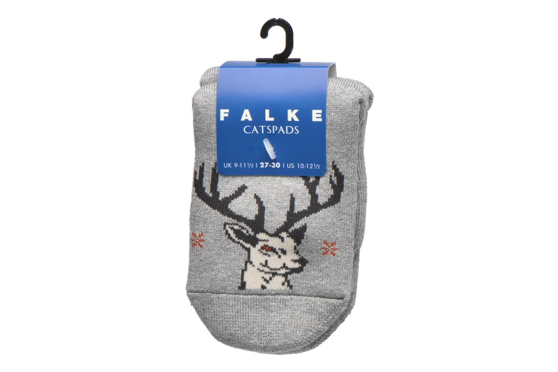 Strømper og tights Falke Chaussons-chaussettes My Dear Catspads Grå se bagfra