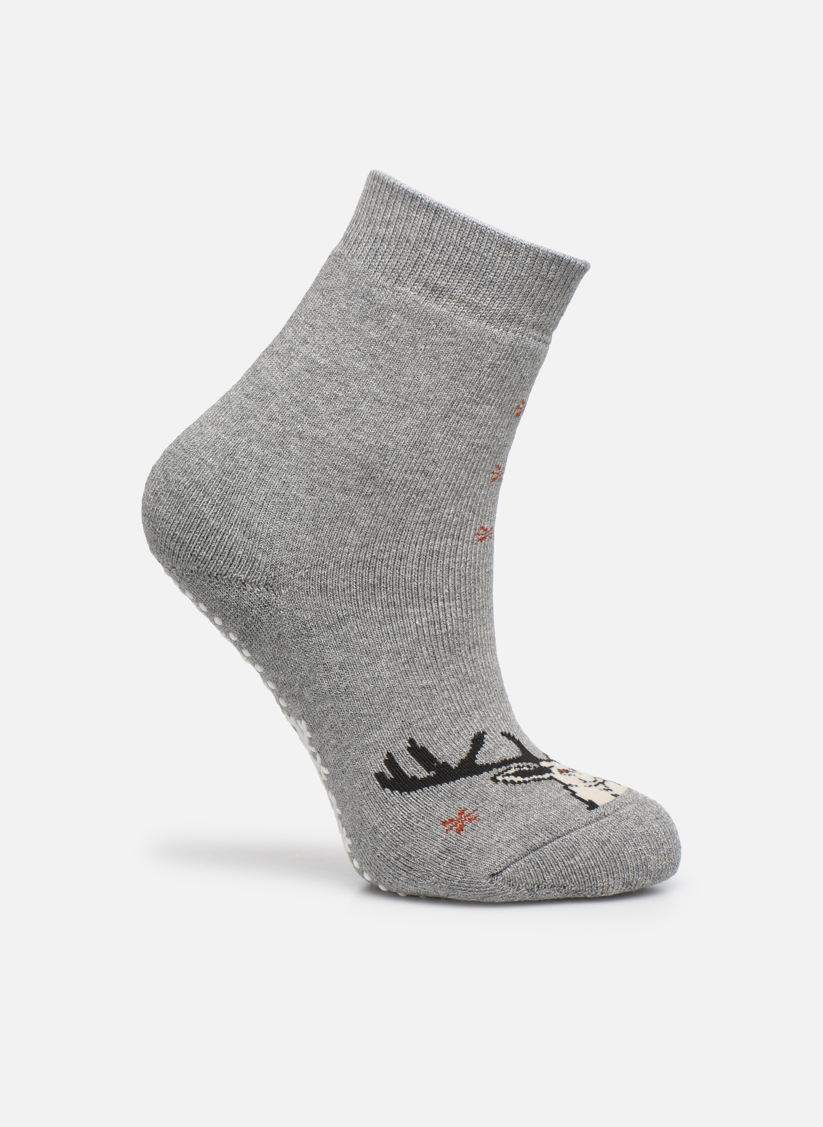 Socks & tights Falke Chaussons-chaussettes My Dear Catspads Grey detailed view/ Pair view
