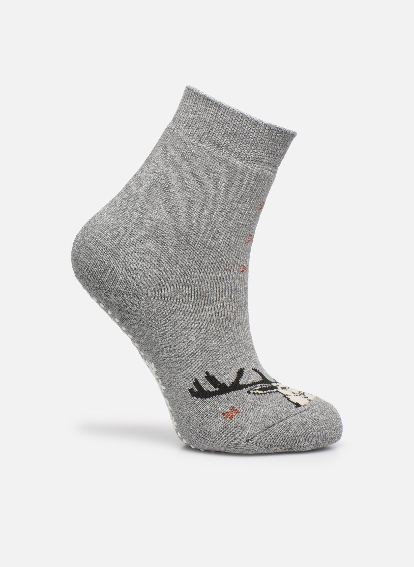 Chaussettes et collants Falke Chaussons-chaussettes My Dear Catspads Gris vue détail/paire