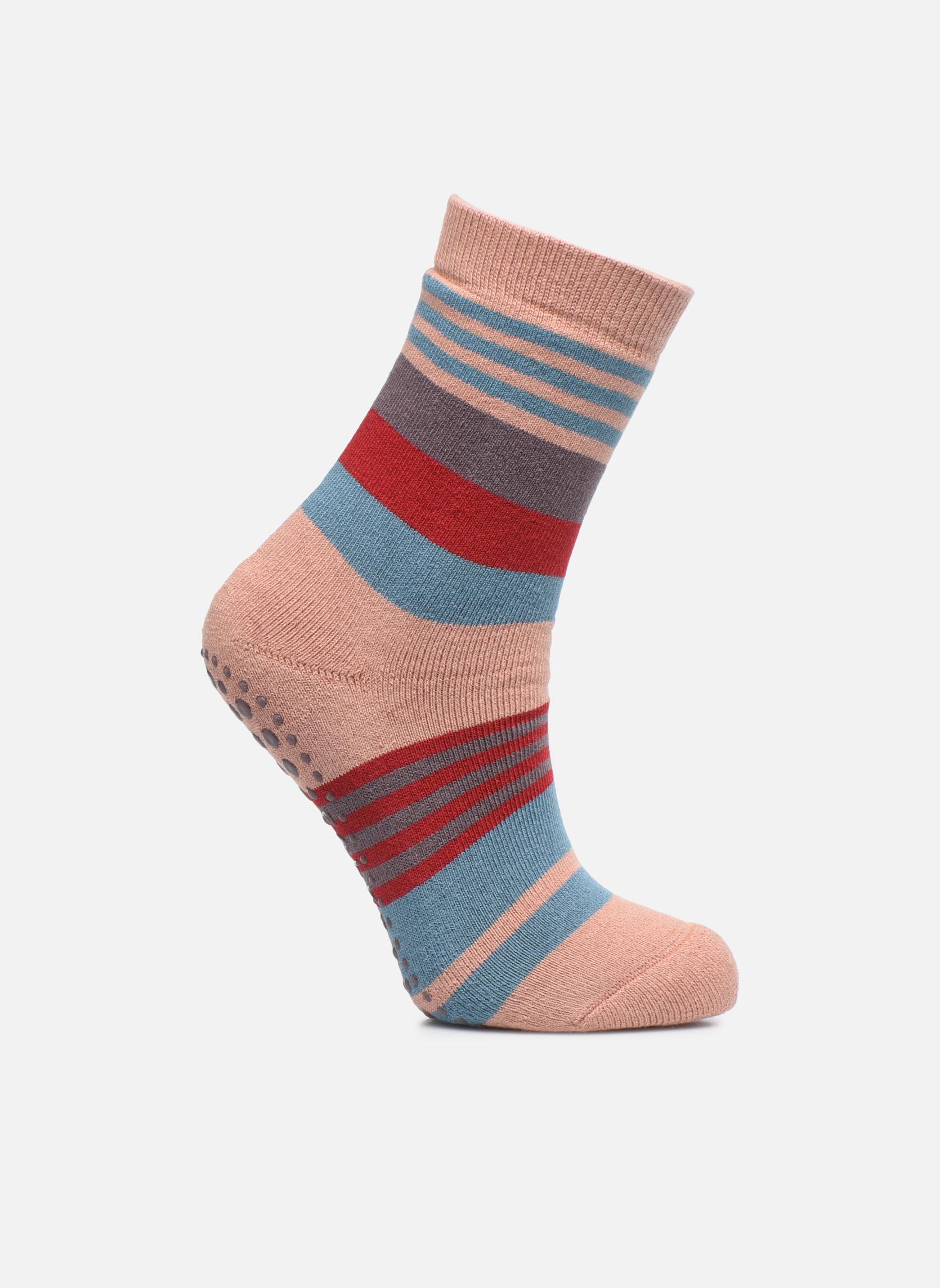 Strumpor och strumpbyxor Falke Chaussons-chaussettes Irregular Stripe Catspads Multi detaljerad bild på paret