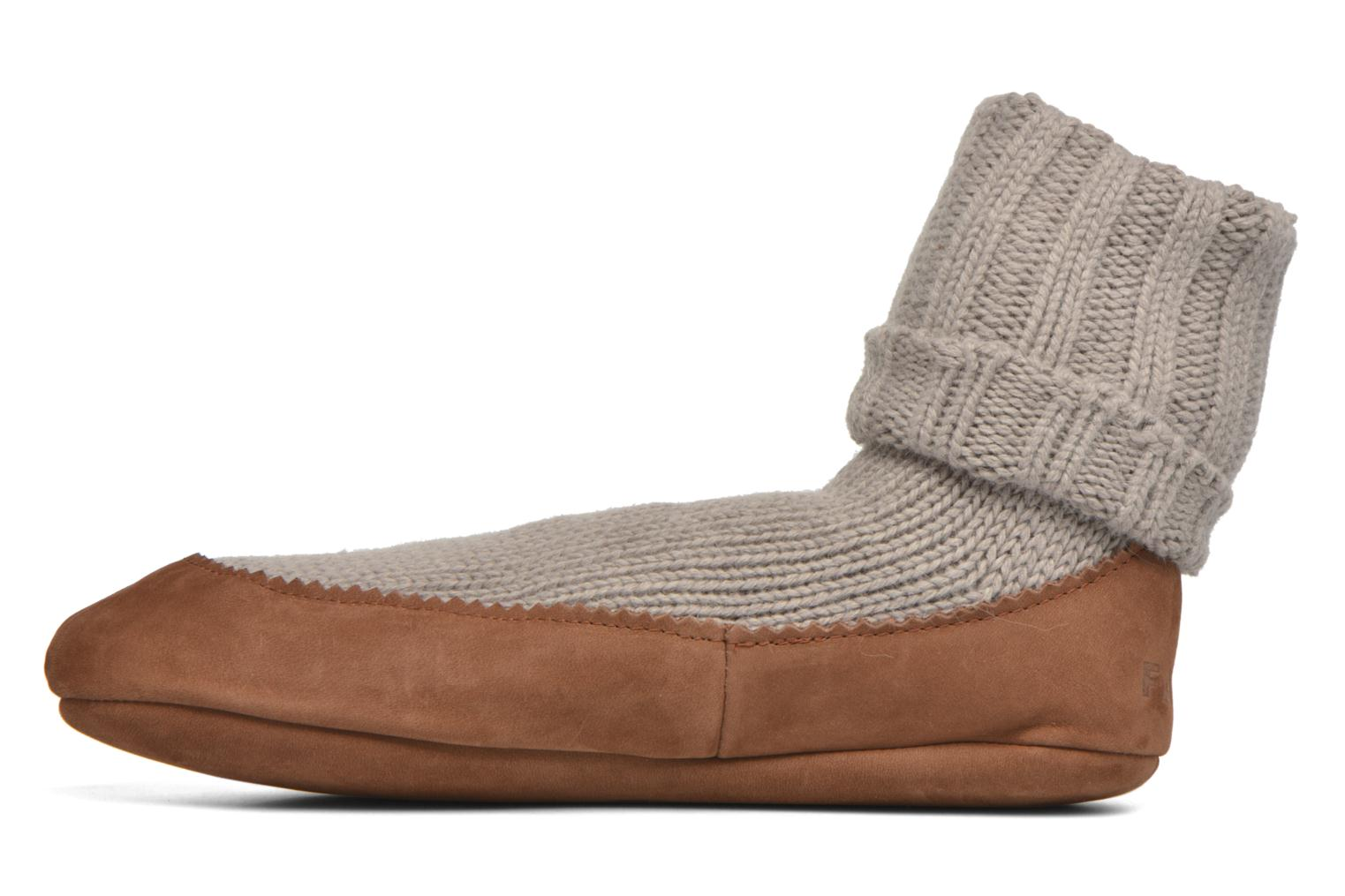 Calze e collant Falke Chaussons-chaussettes Cottage Socke Beige immagine frontale