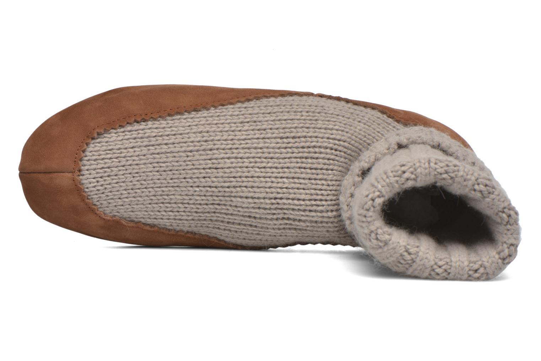 Socken & Strumpfhosen Falke Chaussons-chaussettes Cottage Socke beige ansicht von links