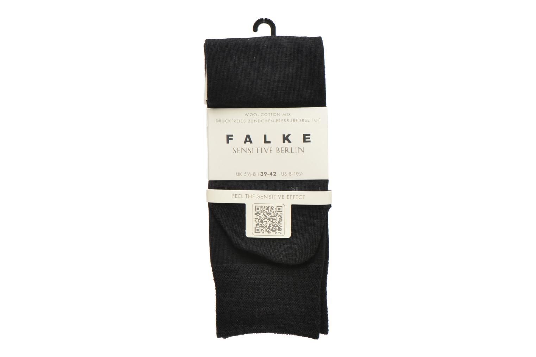 Chaussettes et collants Falke Chaussettes courtes Berlin Sensitive Noir vue derrière