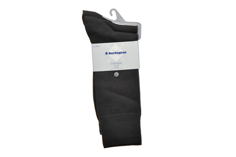 Chaussettes et collants Burlington Chaussettes E.day Pack de 2 Noir vue derrière