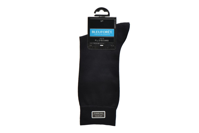 Strømper og tights BLEUFORÊT Chaussettes 100% Fil d'Ecosse Blå se bagfra