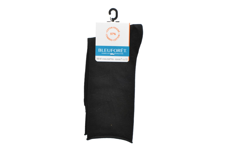 Sokken en panty's BLEUFORÊT Chaussettes coton velouté Zwart achterkant
