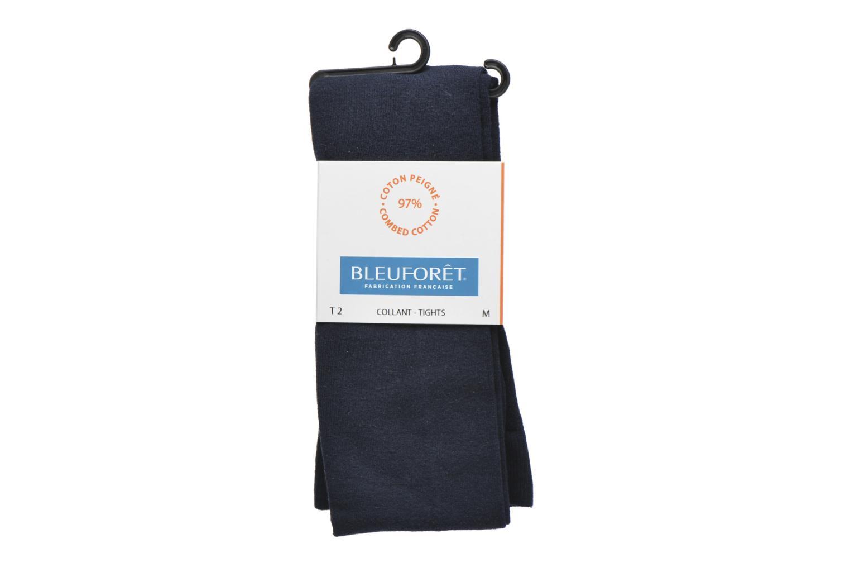 Chaussettes et collants BLEUFORÊT Collant coton velouté Bleu vue détail/paire