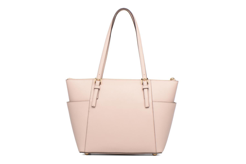 Handbags Michael Michael Kors JET SET ITEM EW TZ Tote Pink front view