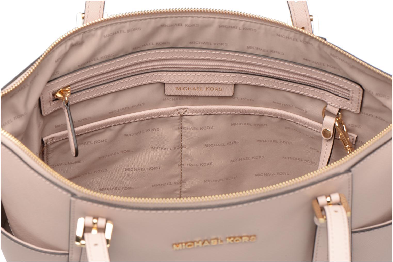 Handtaschen Michael Michael Kors JET SET ITEM EW TZ Tote rosa ansicht von hinten