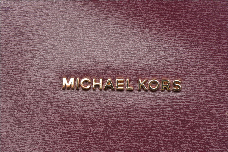 Bolsos de mano Michael Michael Kors EMRY LG Tote Violeta      vista lateral izquierda
