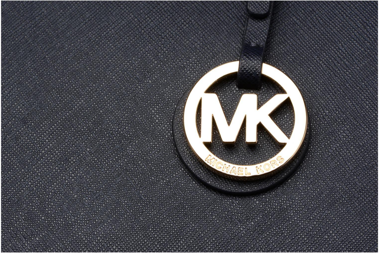Sacs à main Michael Michael Kors JET SET TRAVEL TZ Tote zippé Bleu vue gauche