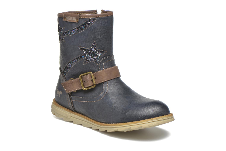 Bottes Mustang shoes Gisa Kids Bleu vue détail/paire