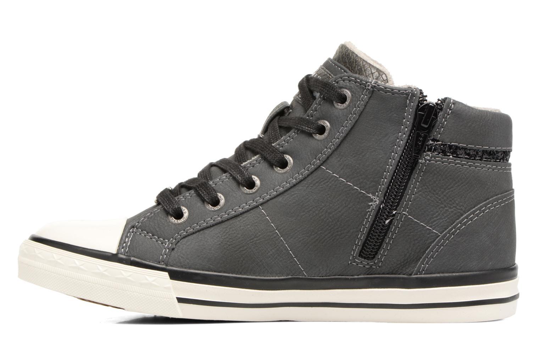 Sneaker Mustang shoes Leni grau ansicht von vorne