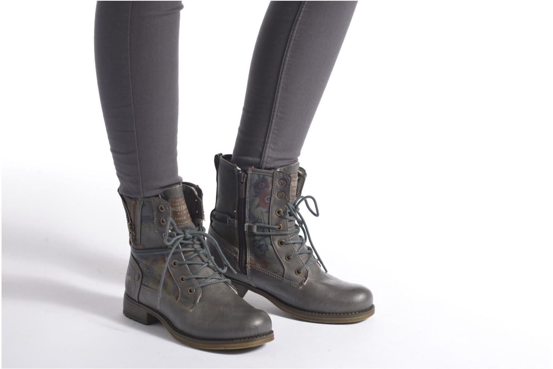 Bottines et boots Mustang shoes Krista Gris vue bas / vue portée sac