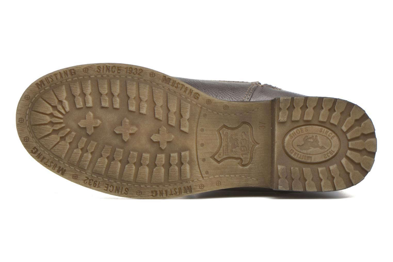 Bottines et boots Mustang shoes Krista Gris vue haut