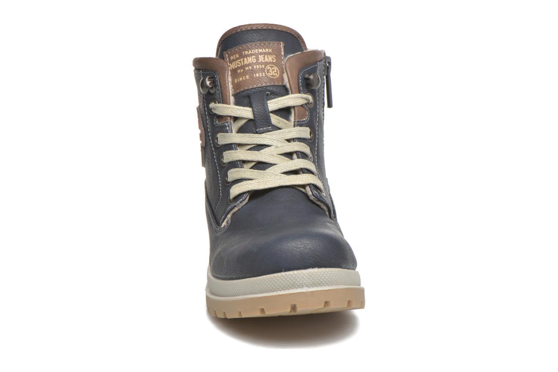 Bottines et boots Mustang shoes Hanne Bleu vue portées chaussures