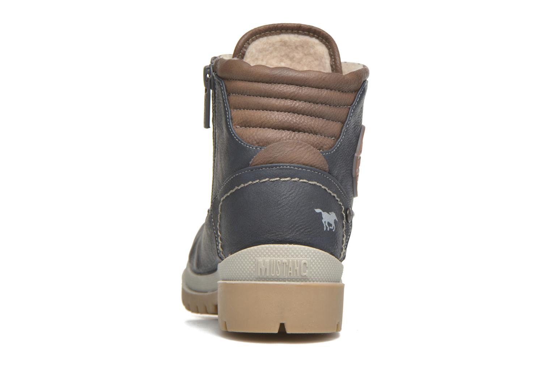 Bottines et boots Mustang shoes Hanne Bleu vue droite