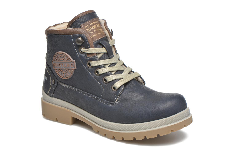 Bottines et boots Mustang shoes Hanne Bleu vue détail/paire