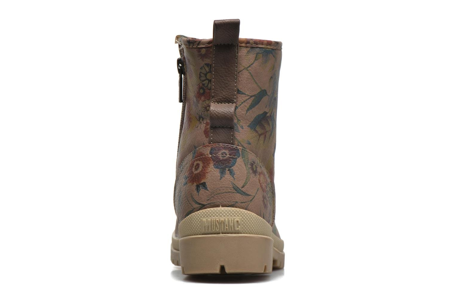 Ankle boots Mustang shoes Doris Beige view from the right