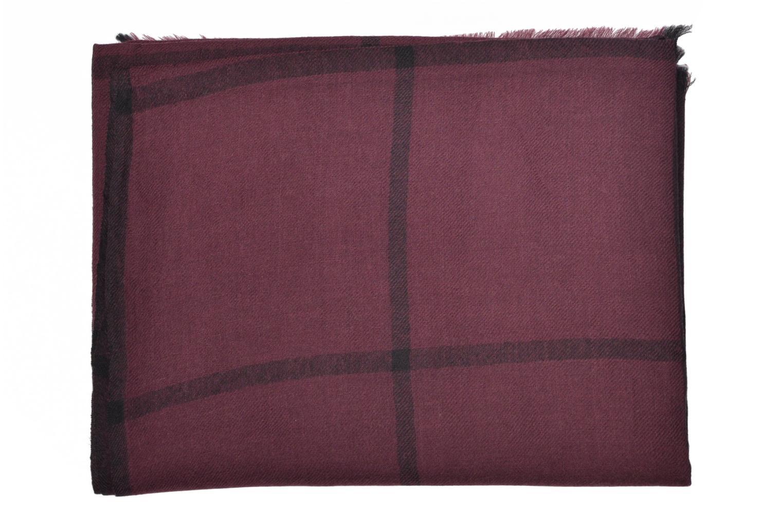 Divers Petite mendigote HARISSA Foulard laine 100x200 Bordeaux vue derrière