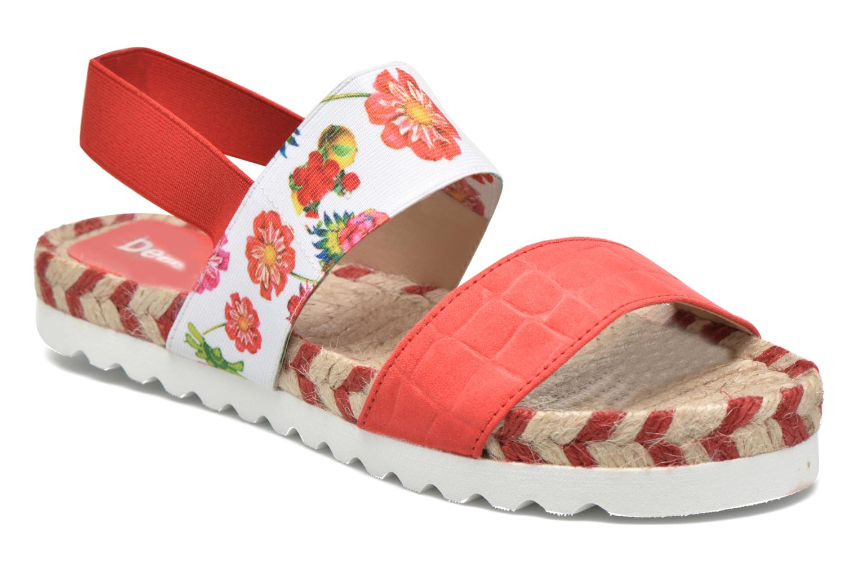 Sandales et nu-pieds Desigual SHOES_FORMENTERA 6 Rouge vue détail/paire