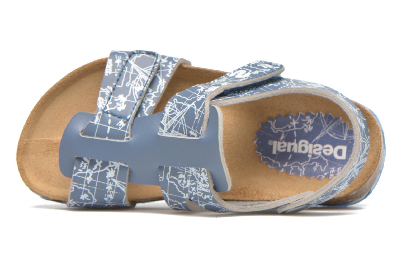 Sandalias Desigual SHOES_BIO 8 Gris vista lateral izquierda